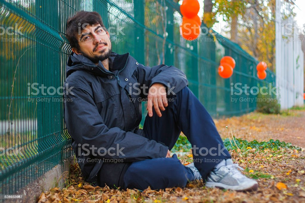 Resting boy royalty-free stock photo