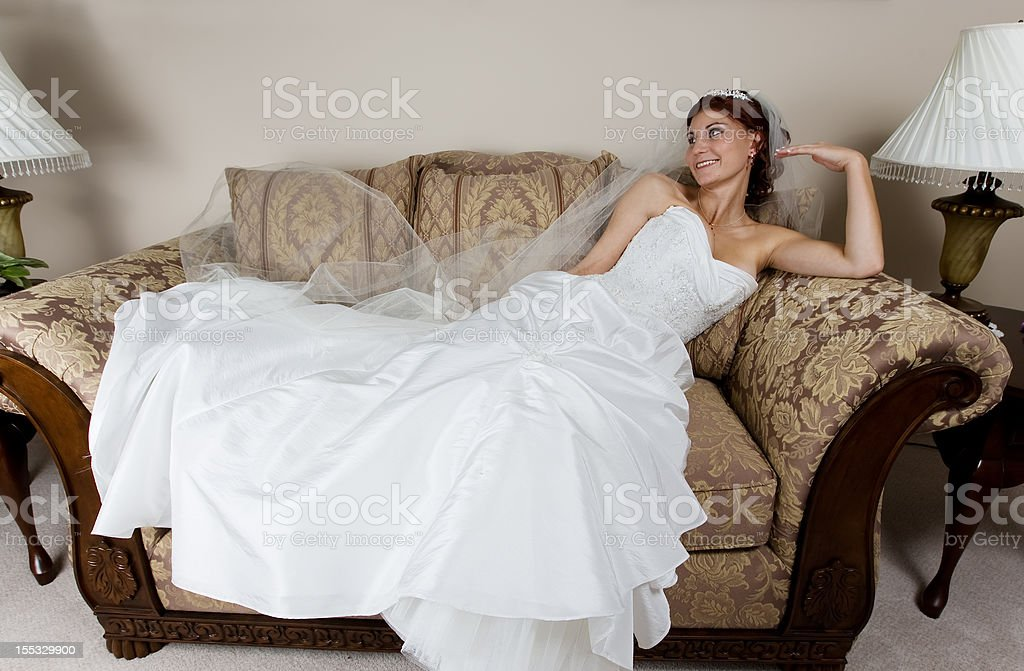 Resting bride royalty-free stock photo