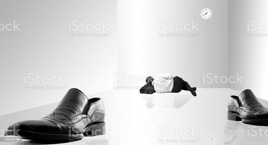 resting businessman -series with different situation royalty-free stock photo