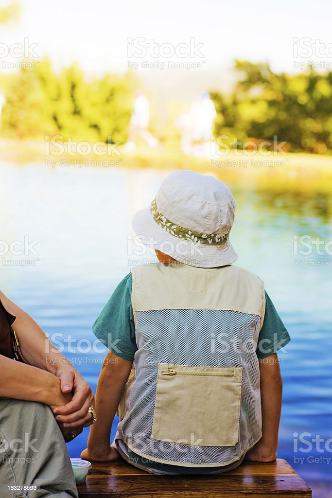 Resting By The Water royalty-free stock photo