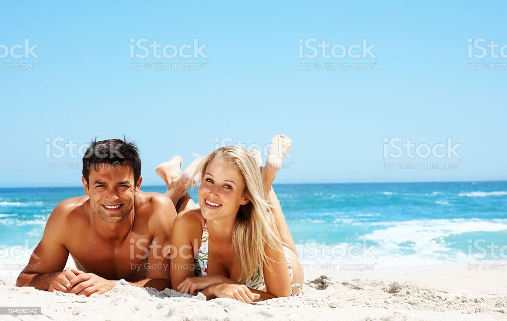 Resting couple royalty-free stock photo