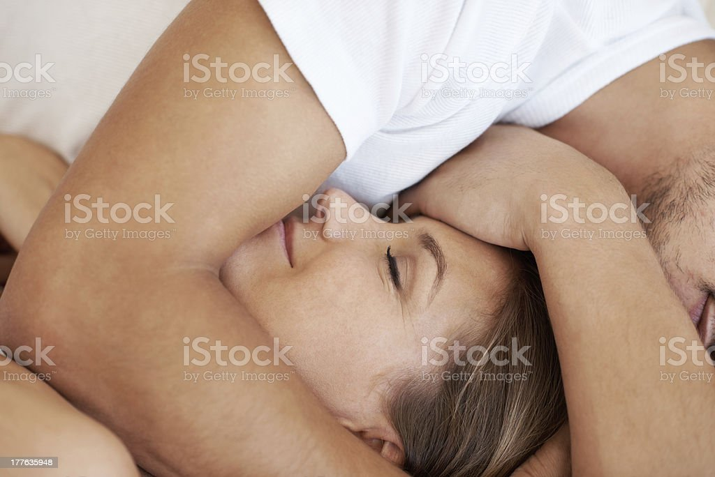 Resting in his arms royalty-free stock photo