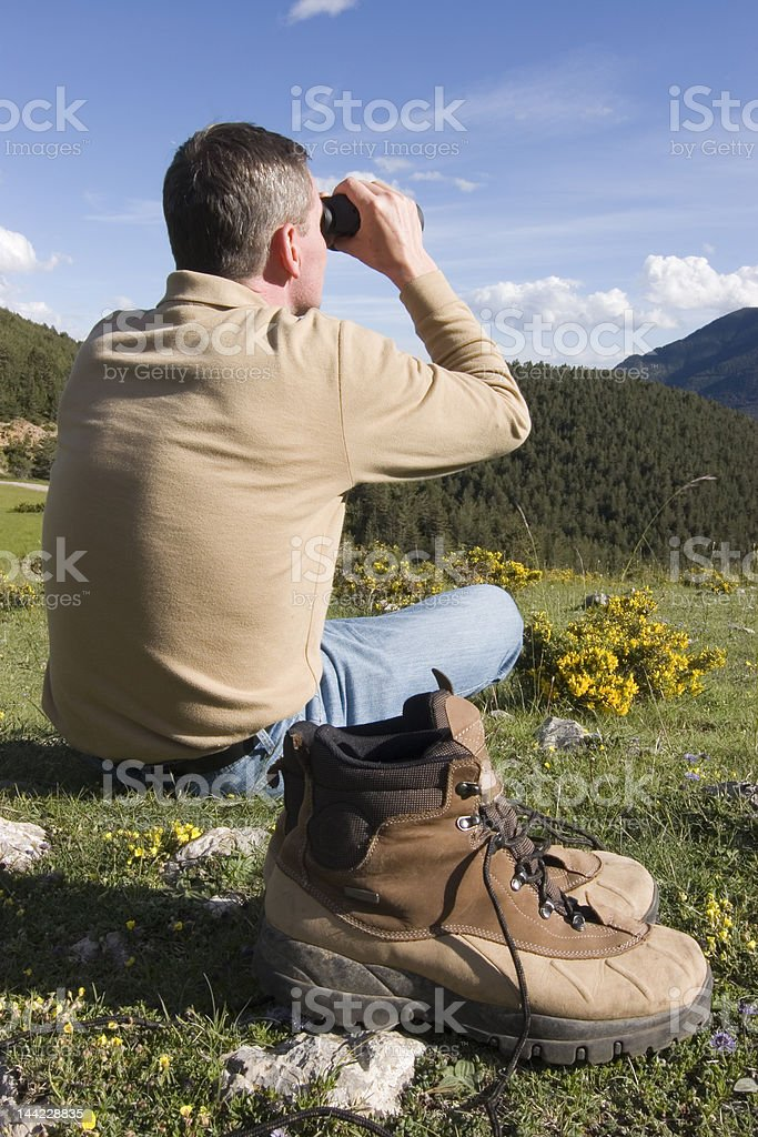 Resting in the mountains royalty-free stock photo
