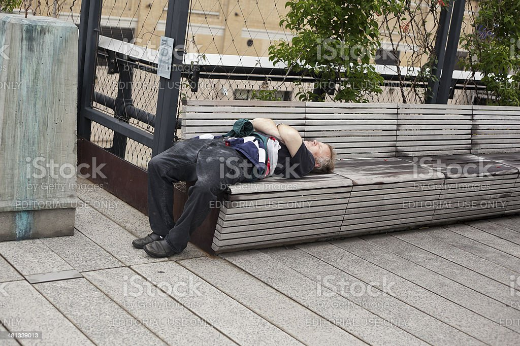 Resting Man stock photo