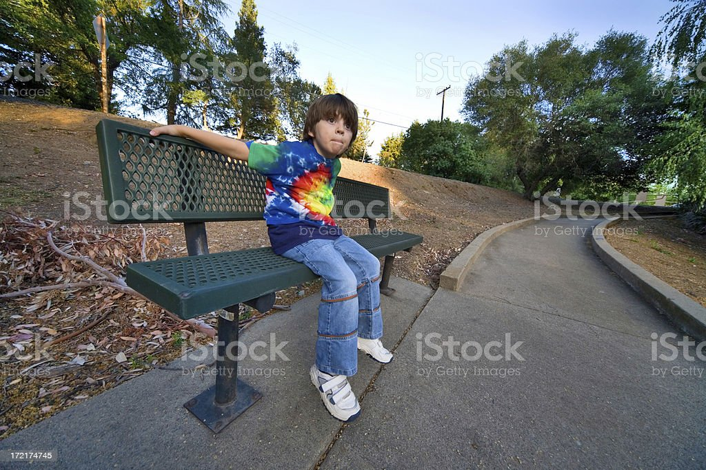 Resting On A Bench royalty-free stock photo