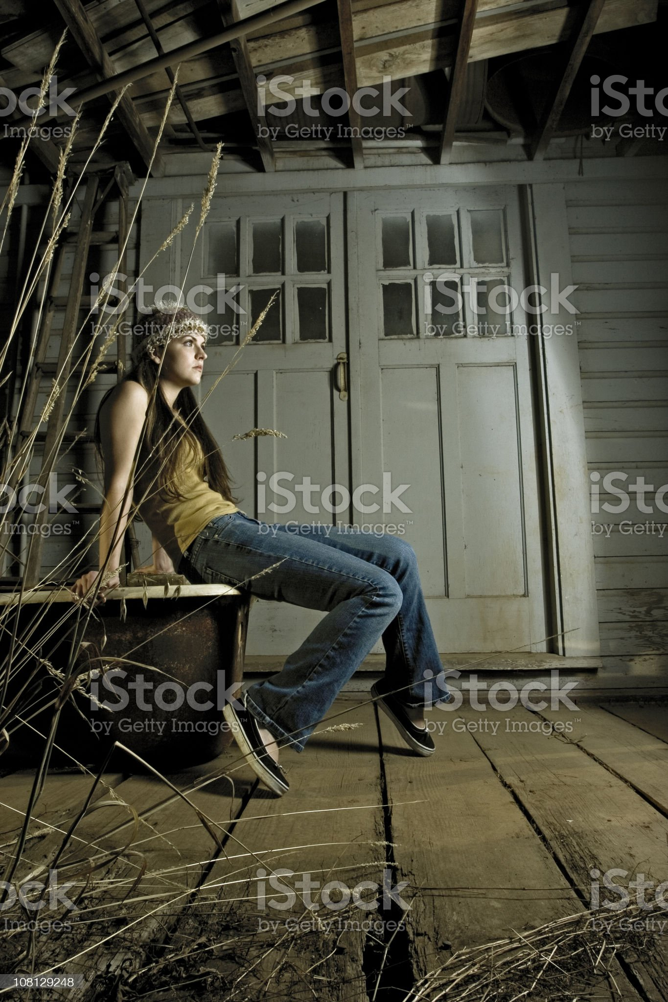 Resting on the Stoop royalty-free stock photo