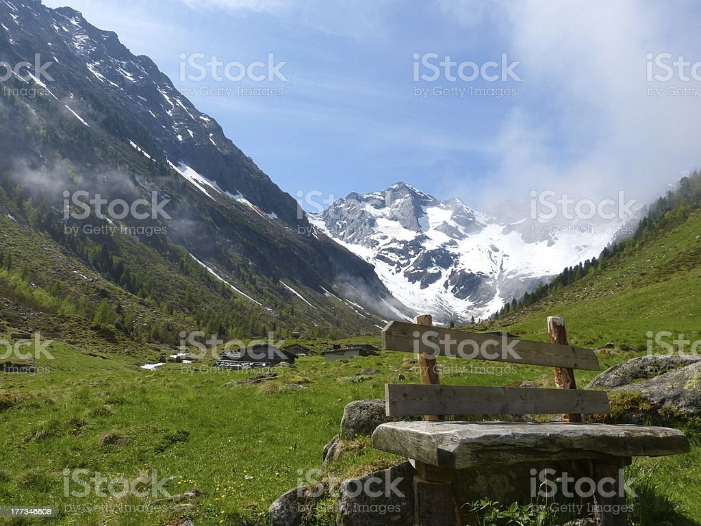 Resting place in the high mountains royalty-free stock photo