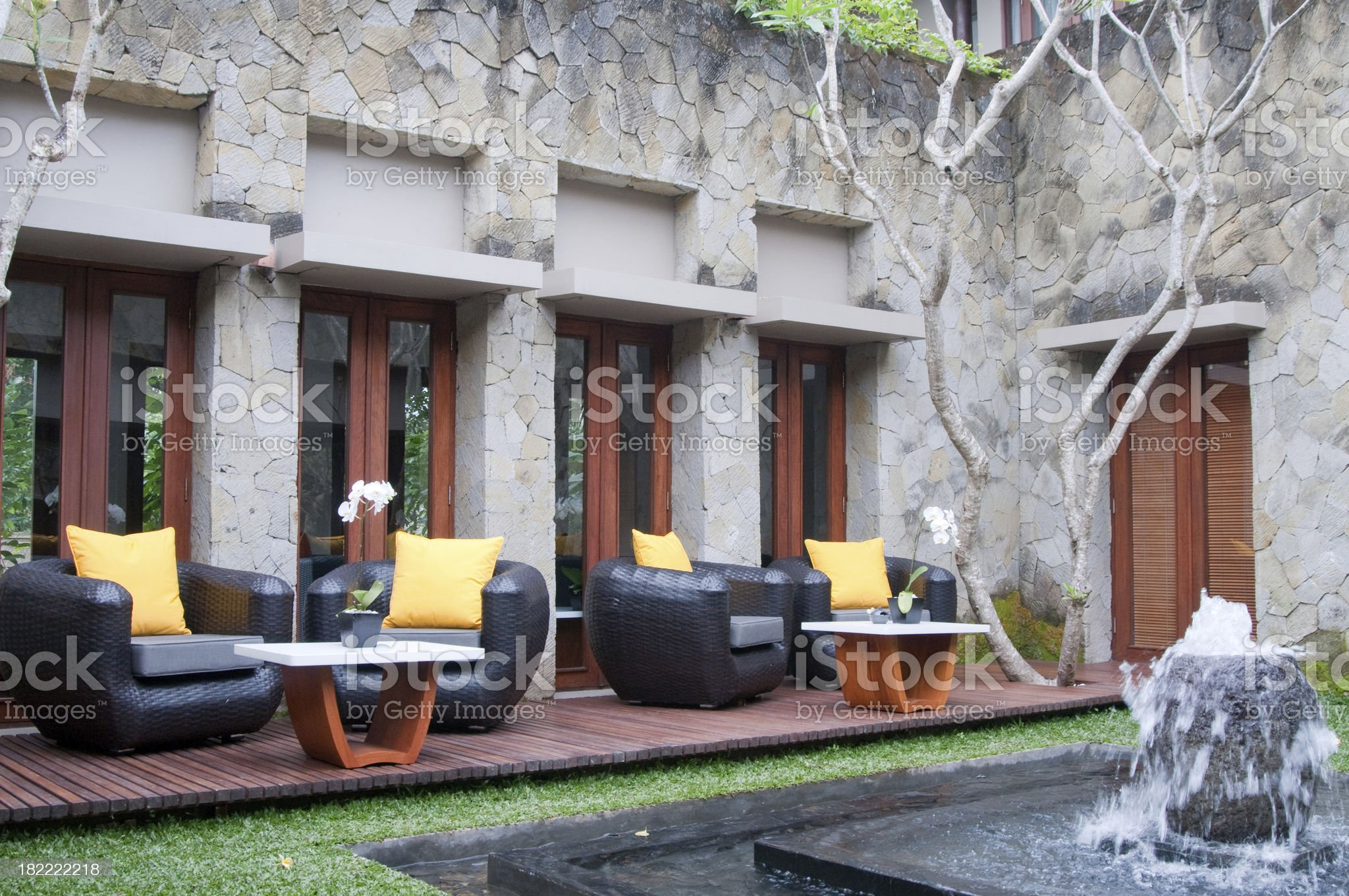 Resting point at Luxury Hotel royalty-free stock photo