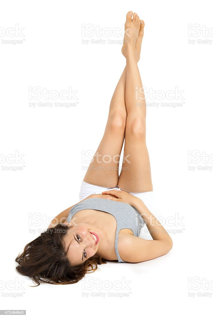 Resting Smiling Woman stock photo