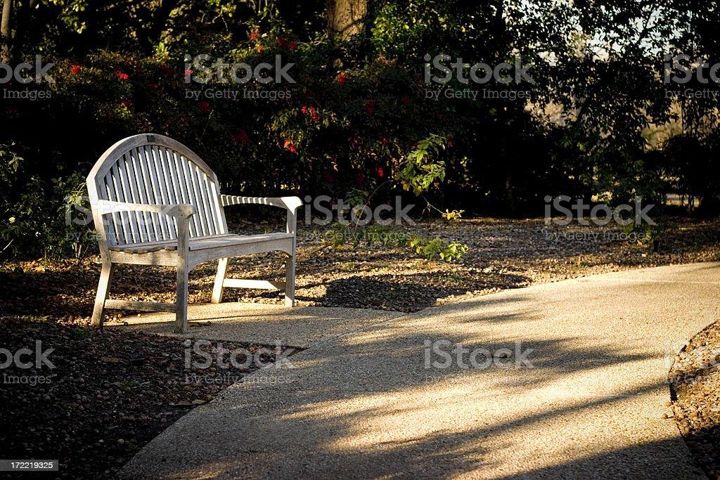 resting walking path stock photo