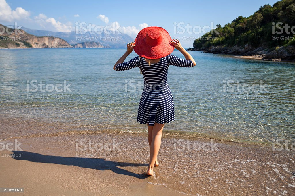 Resting woman stock photo