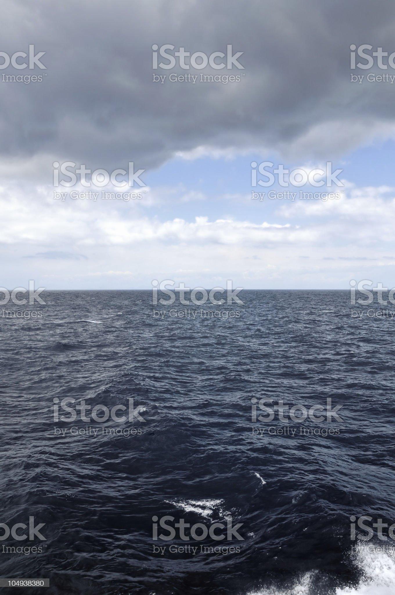 restless sea royalty-free stock photo