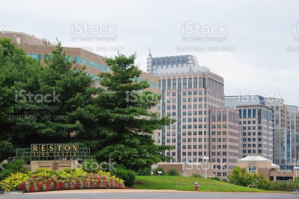 Reston Town Center stock photo