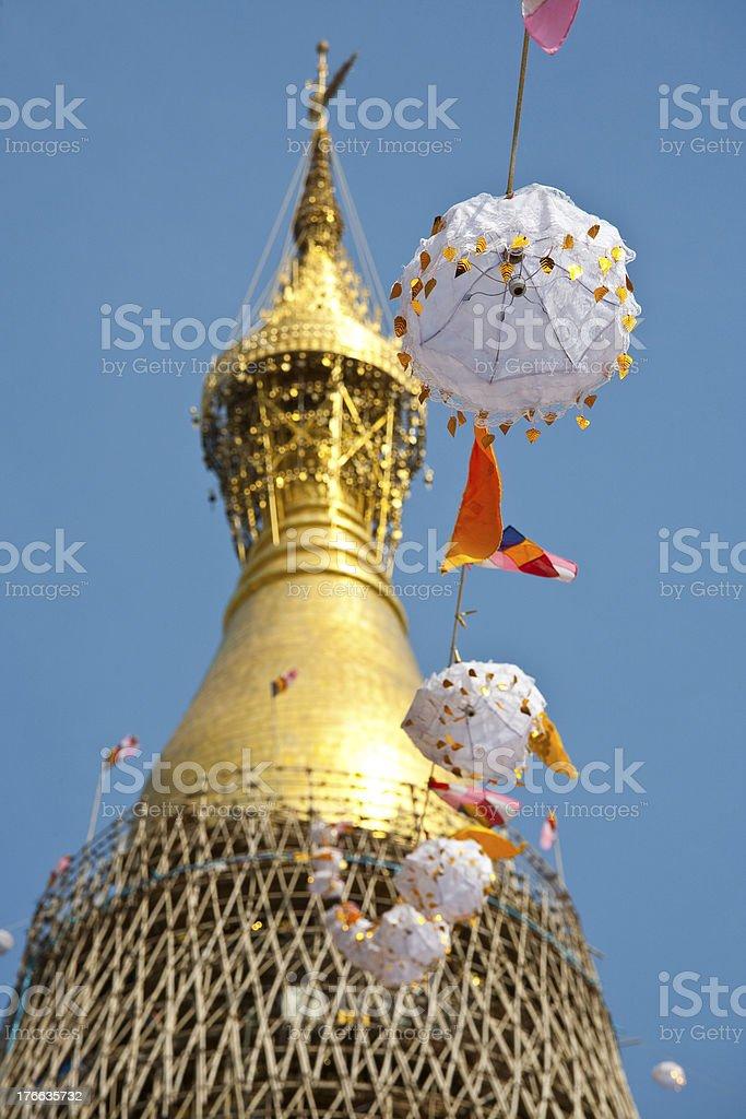 Restoration ceremonial of Shwe dagon pagoda stock photo