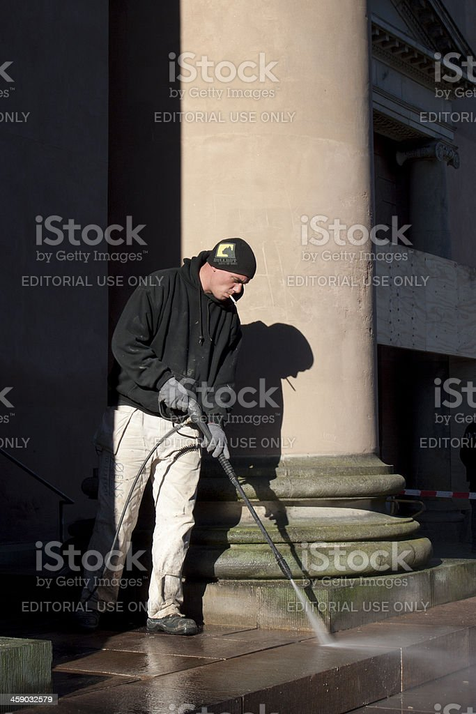 Restoration of the Copenhagen courthouse stairs royalty-free stock photo