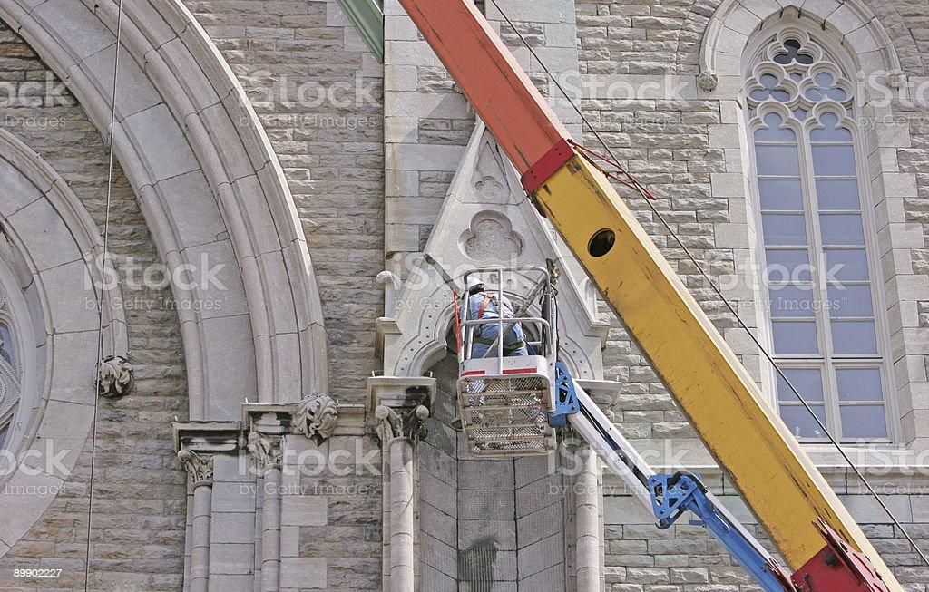 Restoration work stock photo
