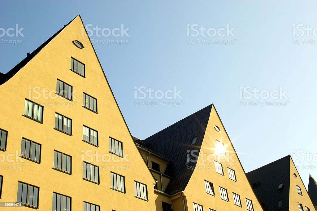 Restored building royalty-free stock photo