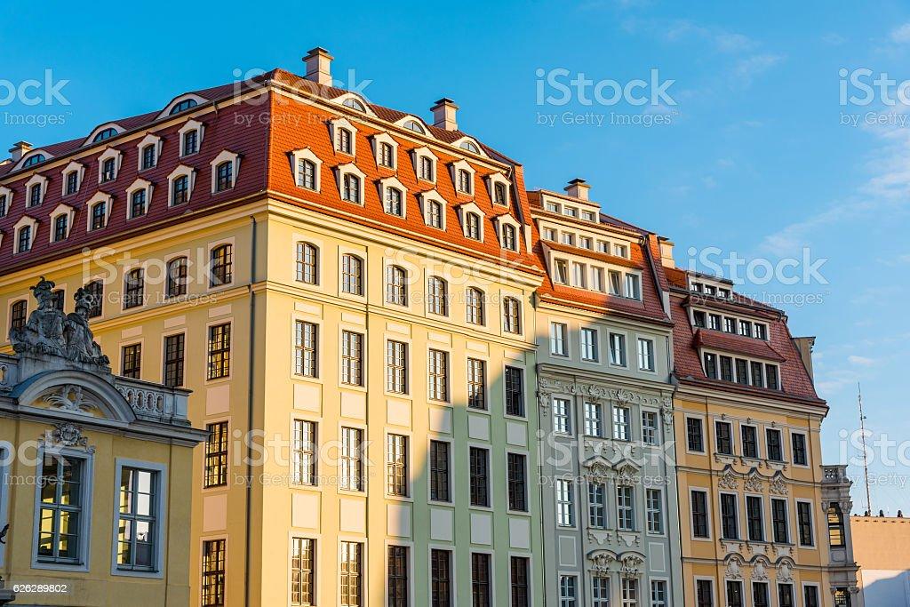 Restored buildings in Dresden stock photo