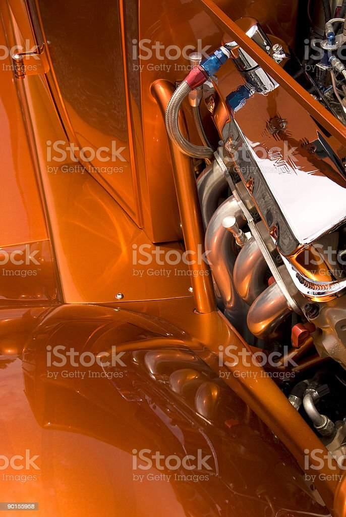 Restored Custom Automobile royalty-free stock photo