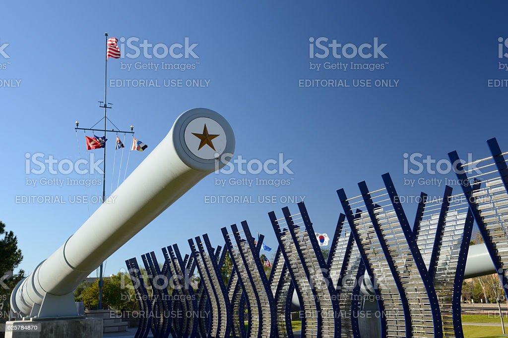Restored gun barrel from the USS Arizona stock photo