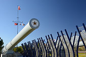 Restored gun barrel from the USS Arizona