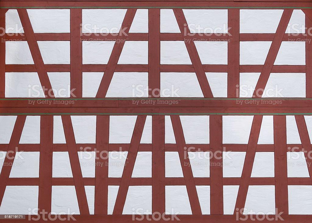 Restored half-timbered royalty-free stock photo