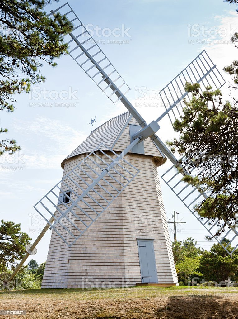 Restored Old Grist Mill, Chatham, Cape Cod, Massachusetts, USA. royalty-free stock photo