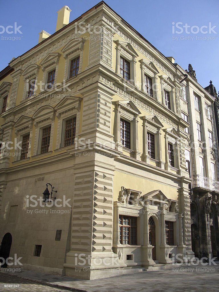 restored old house royalty-free stock photo