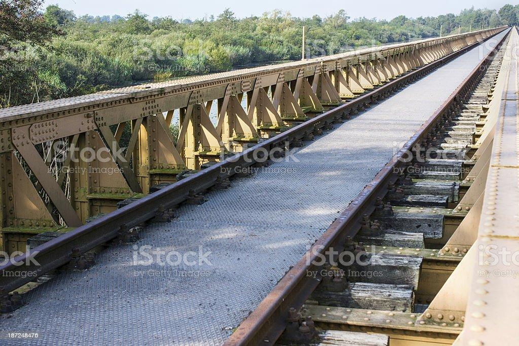 Restored Railway bridge perspective view stock photo