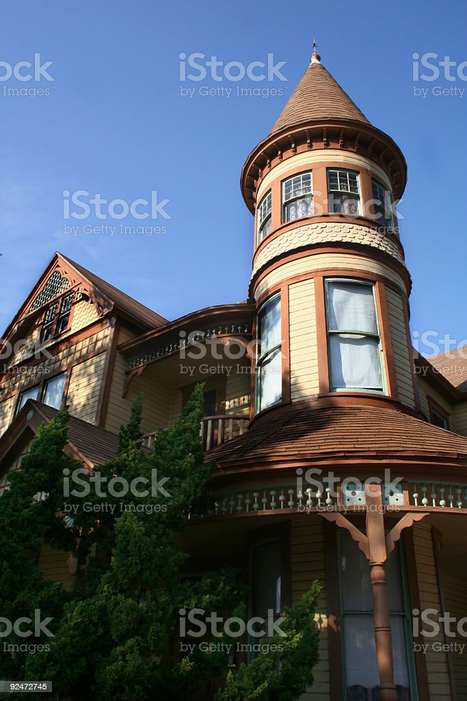 Restored Victorian House stock photo