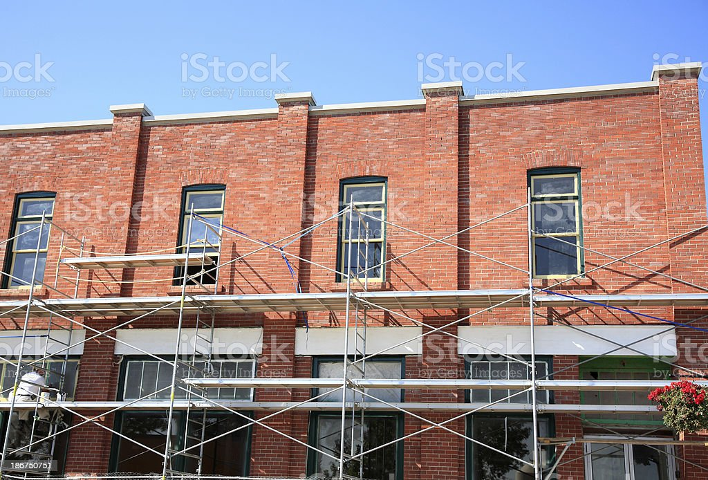 Restoring A Brick Building To It's Original Beauty royalty-free stock photo