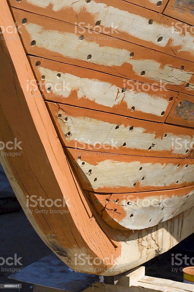 Restoring boats stock photo