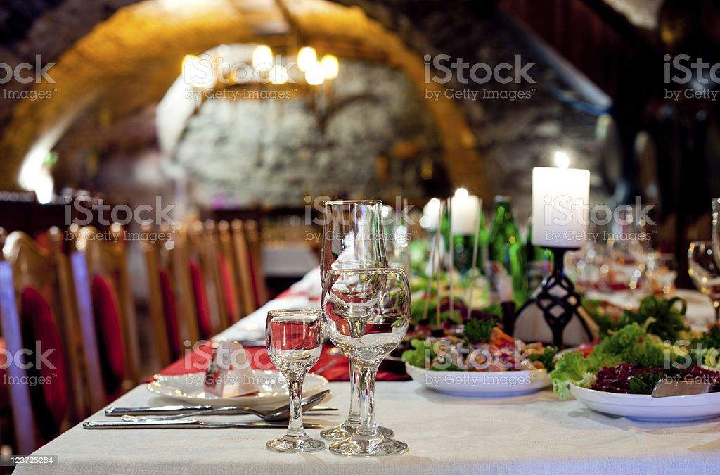 Restourant's table royalty-free stock photo