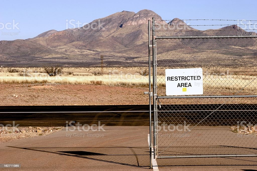 Restricted Access royalty-free stock photo