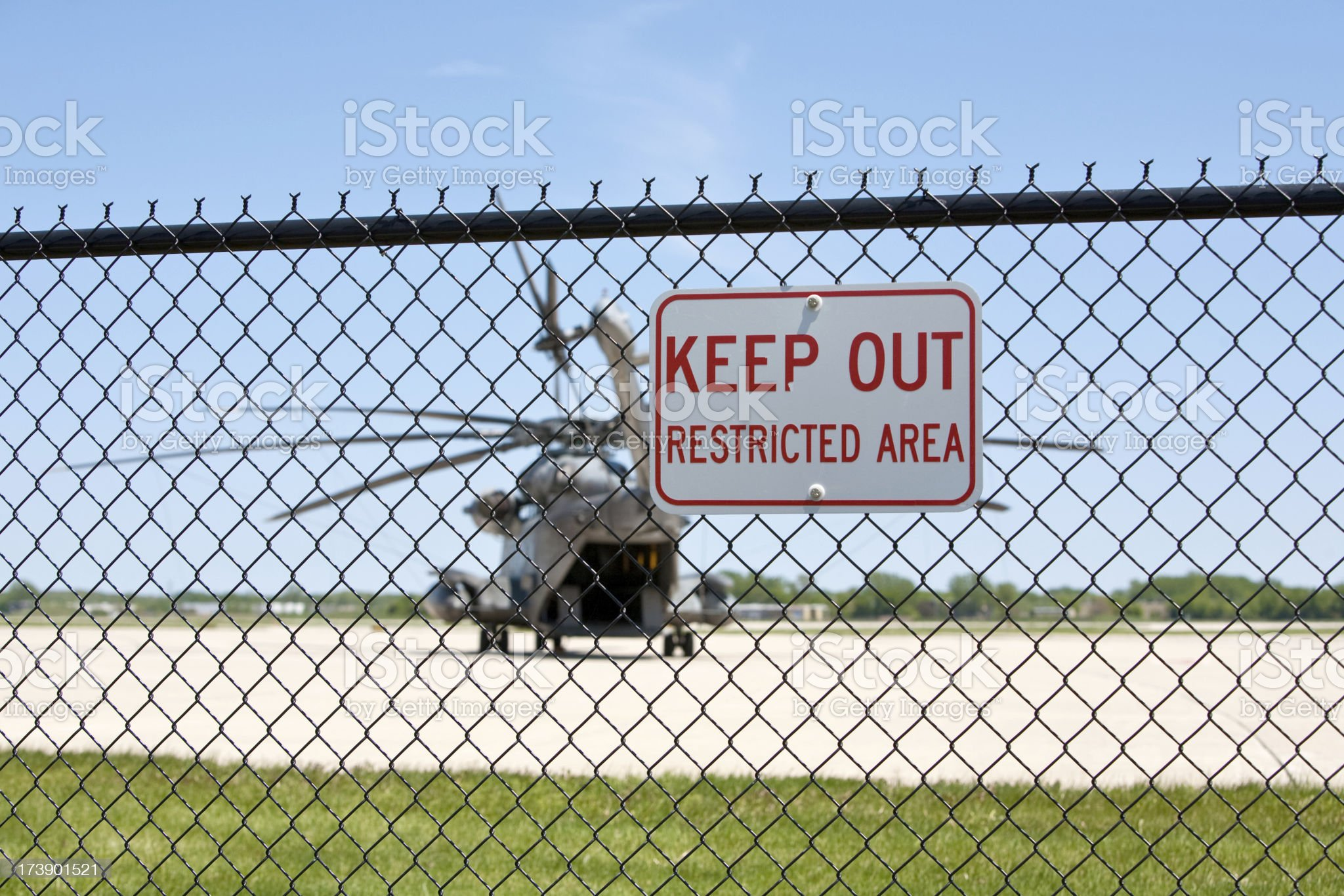 restricted area CH53 royalty-free stock photo