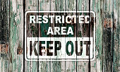 Restricted area notice
