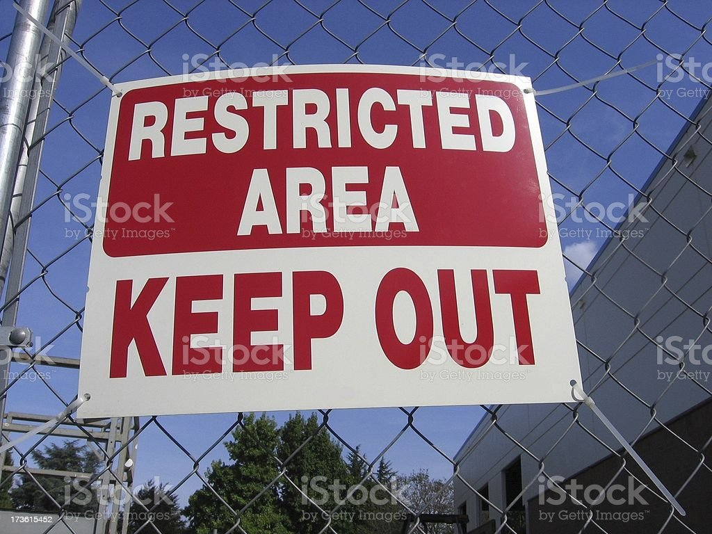 Restricted Area royalty-free stock photo
