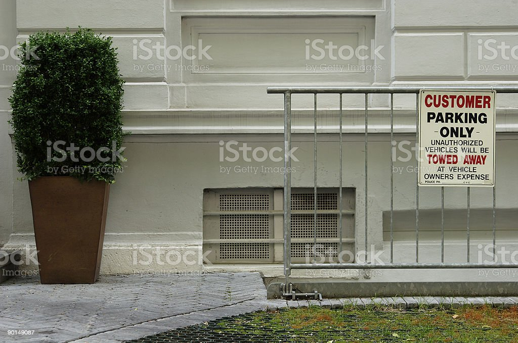 restricted parking royalty-free stock photo