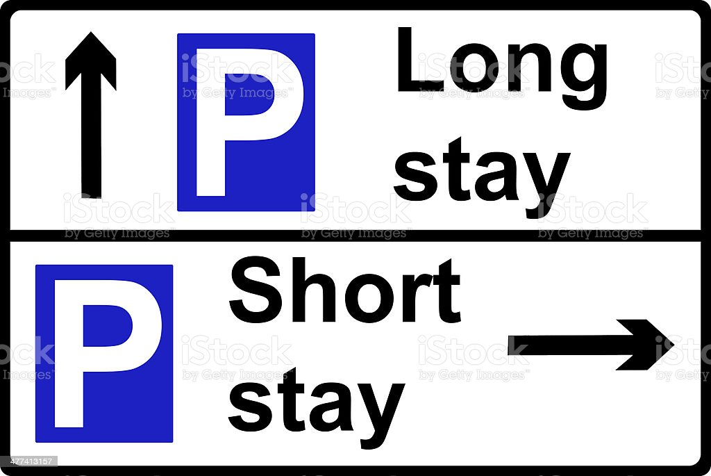 Restricted parking place sign stock photo