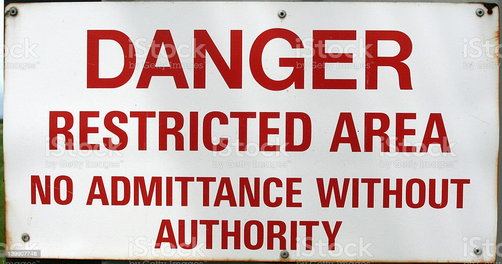 Restricted Sign royalty-free stock photo