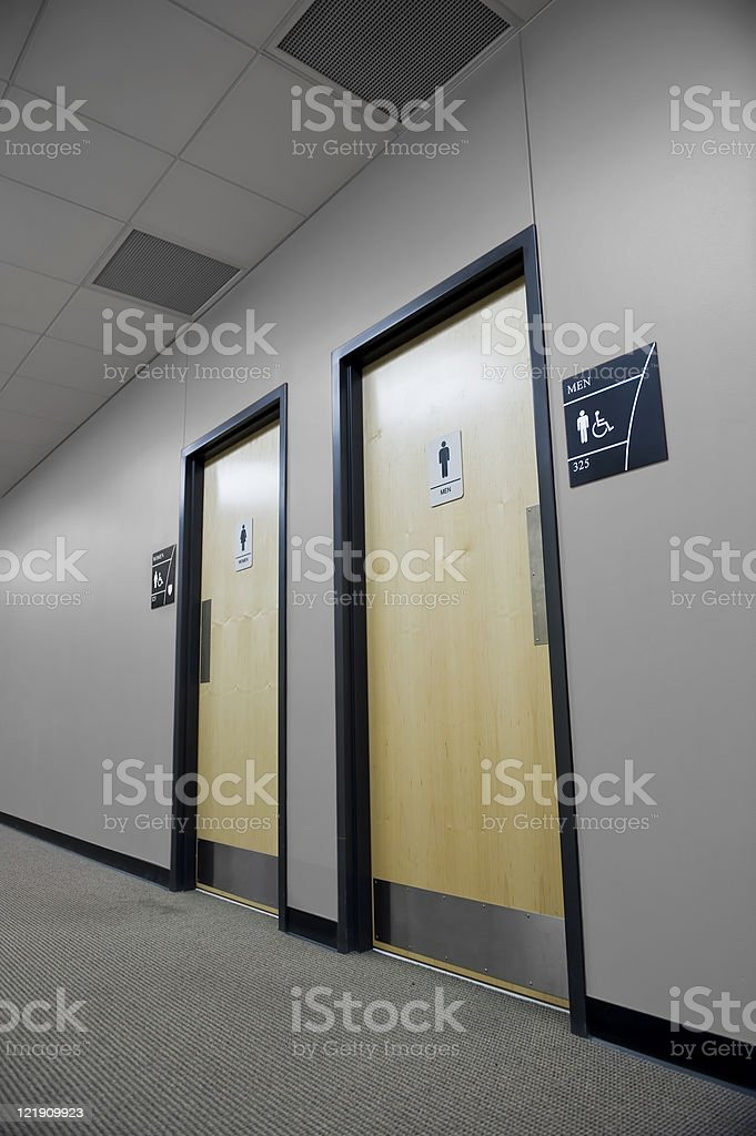 Restroom doors royalty-free stock photo