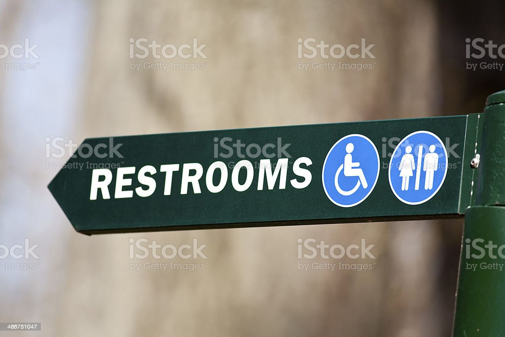Restroom sign royalty-free stock photo