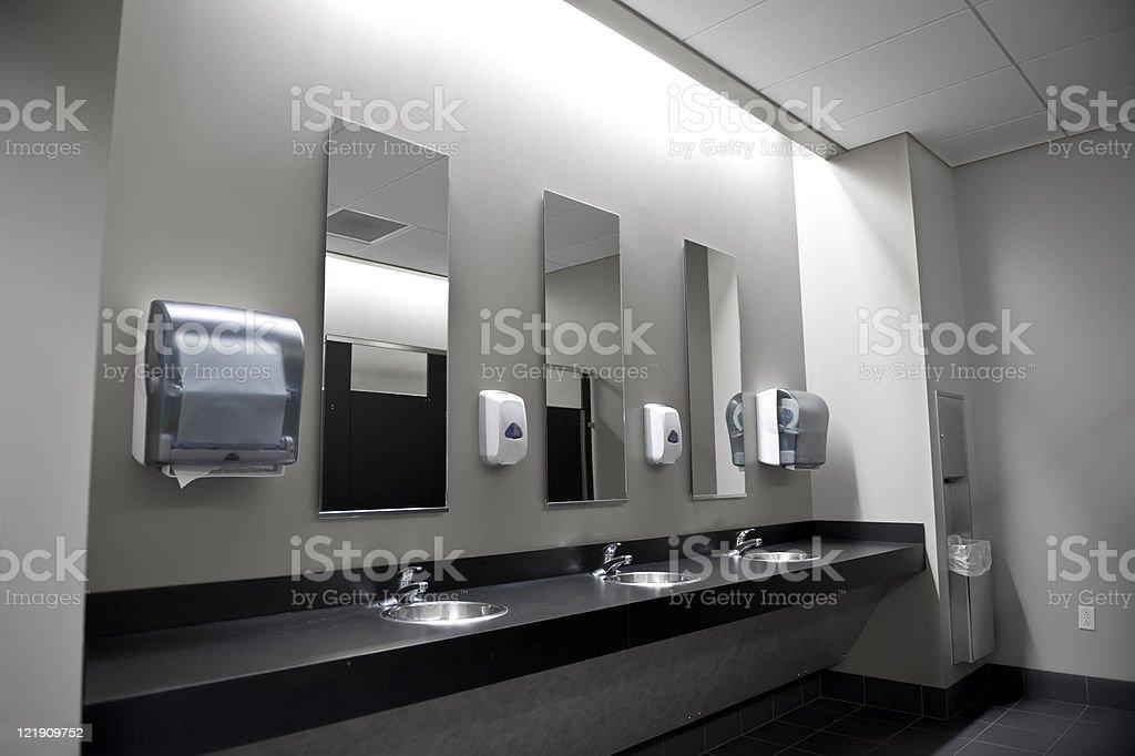 Restroom Sinks royalty-free stock photo