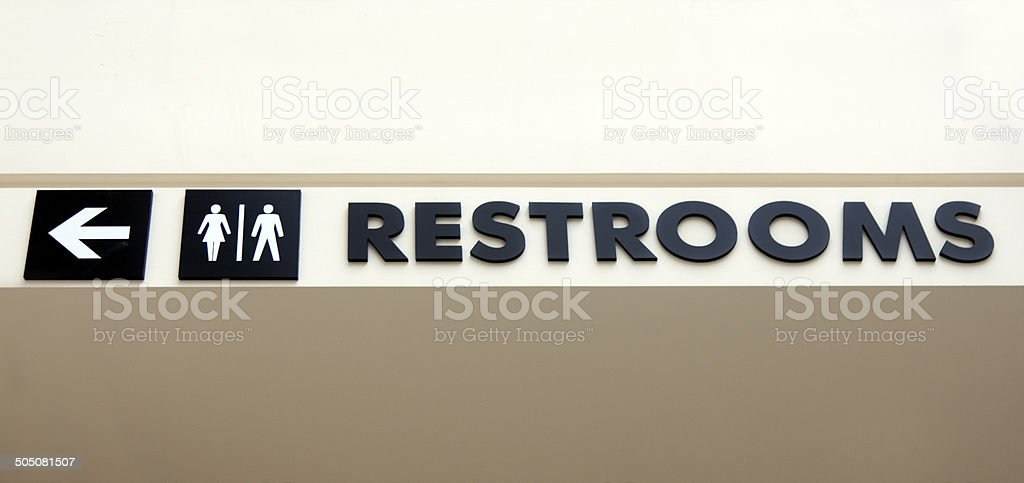 Restrooms royalty-free stock photo