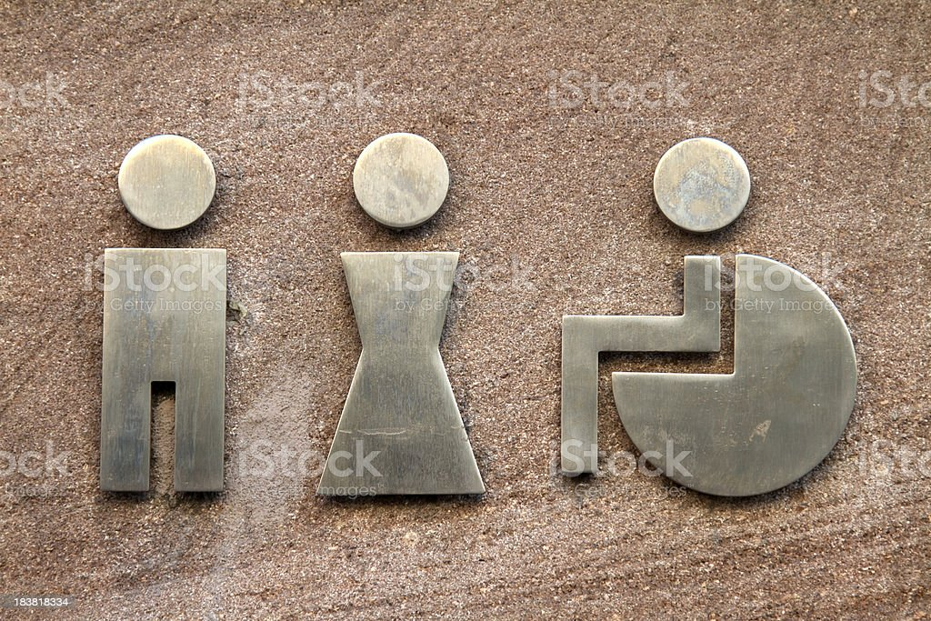 Restrooms signs royalty-free stock photo