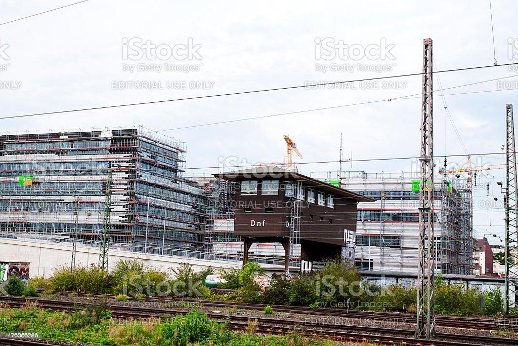 Restructuring area of station D?sseldorf Derendorf stock photo