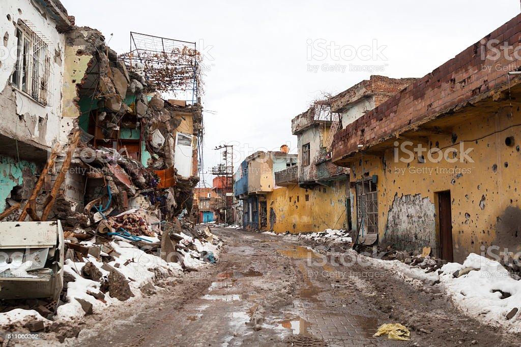 Result of Terorism From Sur / Siyarbakır stock photo