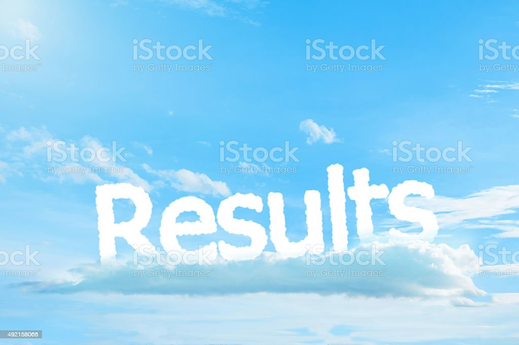 Result text cloud stock photo