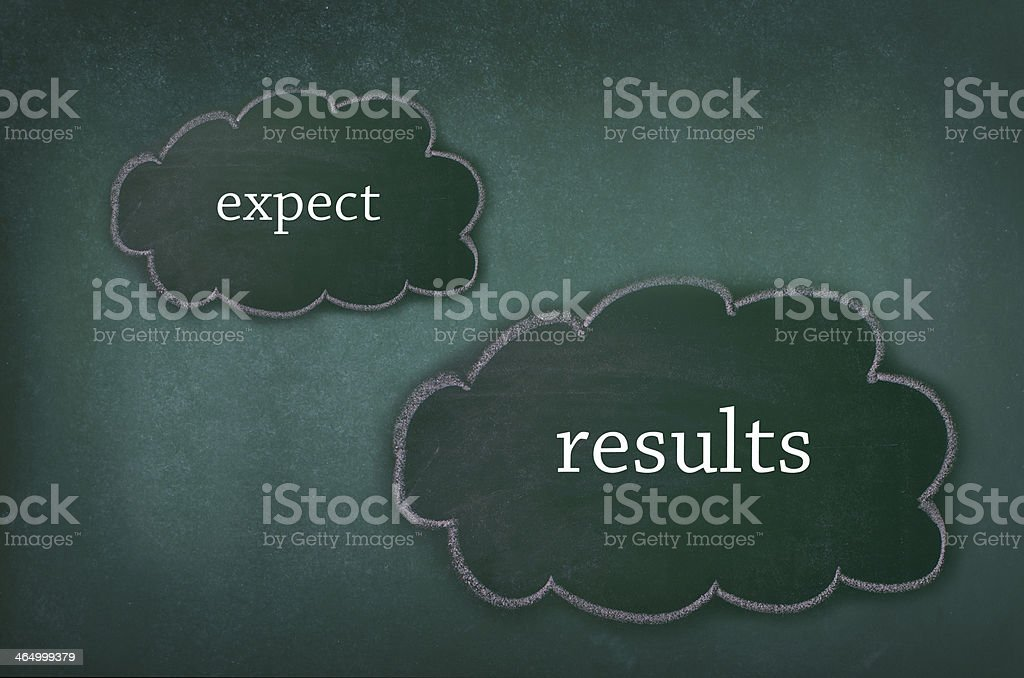 Results and Expectations Concept stock photo