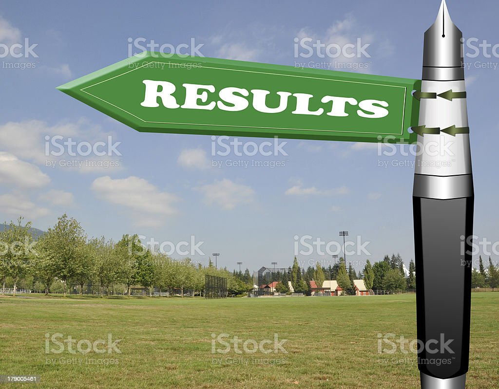 Results road sign royalty-free stock photo
